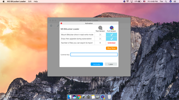 Activate M3 Bitlocker Loader for Mac