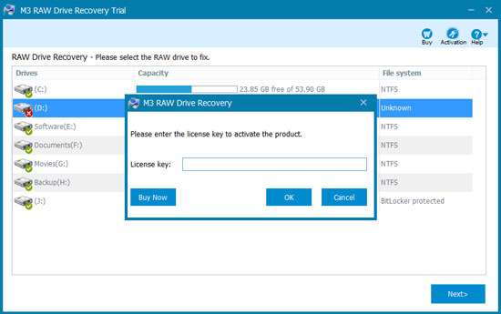 m3 raw drive recovery full version free download