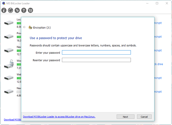 Bitlocker for Windows 10/8/7 Home: M3 Bitlocker Loader for Windows
