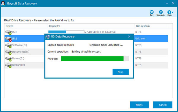 RAW USB drive recovery, convert RAW USB to FAT32, data recovery