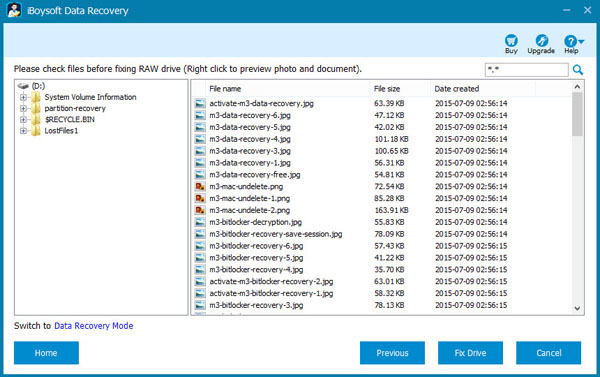 Recover RAW drive or fix RAW partition without data loss