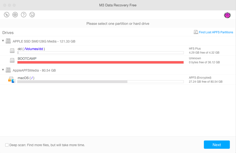Apple APFS data recovery software
