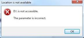 Bitlocker drive is not accessible, parameter is incorrect