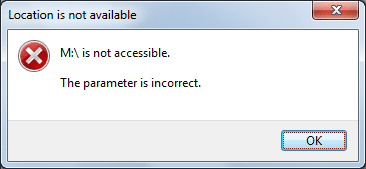 BitLocker encrypted drive is not accessible, parameter is incorrect